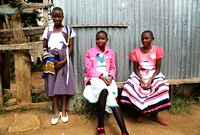 Narok Church 3 Girls on Wall